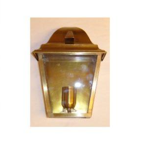 mezza lanterna da parete in ottone
