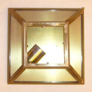 plafoniera piccola in ottone e vetro