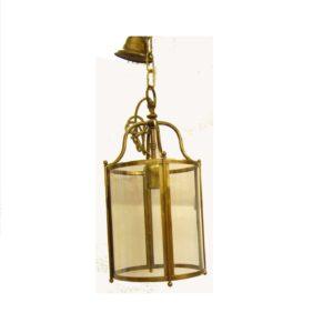 lanterna in ottone e vetro da interno