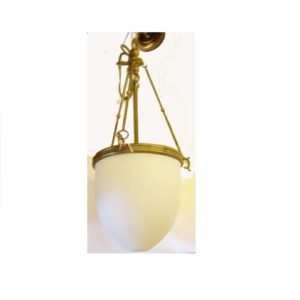 lampadario con vetro tipo scavo e ottone a 3 luci
