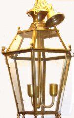 B026 lanterna in ottone 3 luci cm. 46 x 70