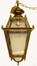 B027 lanterna in ottone cm. 30 x 70