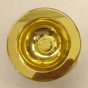campanello tondo da porta in ottone