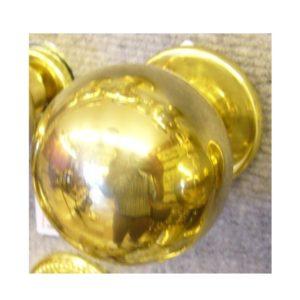 pomolo a sfera in ottone per porta