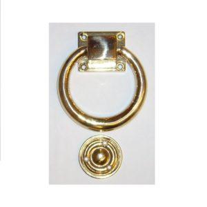 battiporta ad anello liscio in ottone