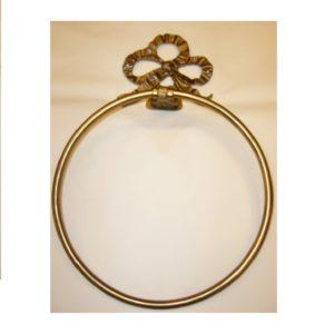 M013 anello portasciugamani con fiocco doppio