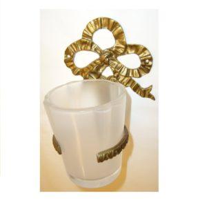 M015 porta bicchiere con fiocco doppio