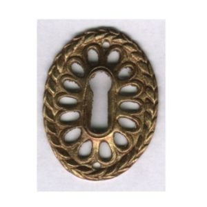 bocchetta ovale traforata in ottone