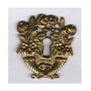 bocchetta stile ottocento in ottone