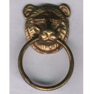 piccolo anello in ottone con testina di leone