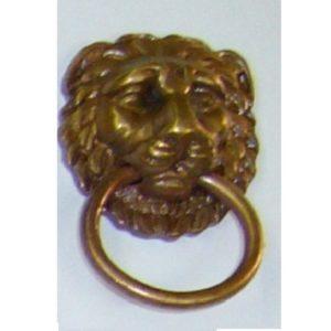 testa di leone con anello snodato