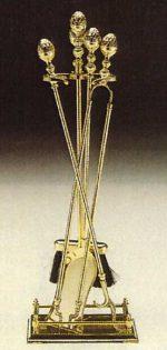 L115 servizio camino in ottone cm. 75