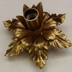 plafoniera piccola a bocciolo in ferro dorato